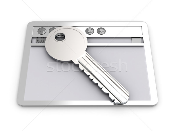Proteger conexão navegador janela chave www Foto stock © Spectral