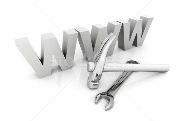 Stock photo: Website under construction