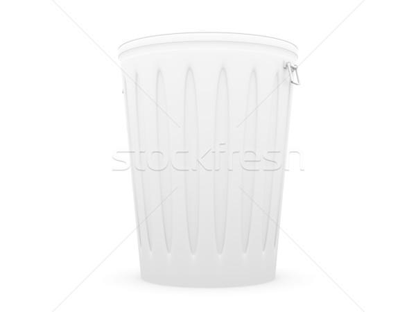 Szemeteskuka 3D renderelt illusztráció izolált fehér Stock fotó © Spectral