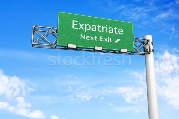 шоссе знак 3D оказанный иллюстрация следующий выход Сток-фото © Spectral