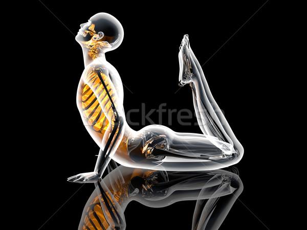 Yoga Pose - King Cobra Stock photo © Spectral