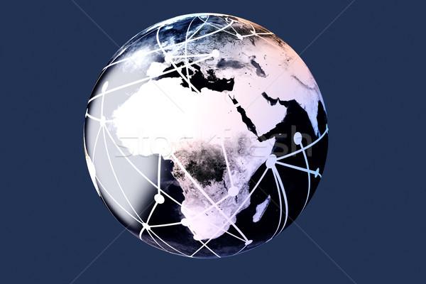 世界 3D レンダリング 実例 ケーブル インターネット ストックフォト © Spectral