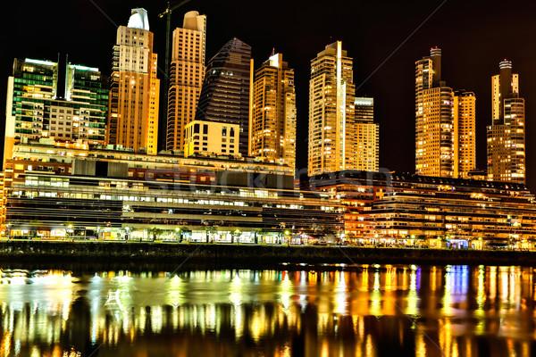 Буэнос-Айрес ночь известный Аргентина строительство Сток-фото © Spectral