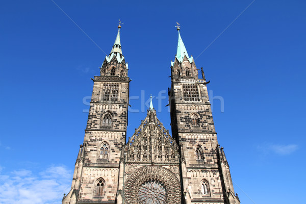 Cathedral St. Lorenz of Nuremberg Stock photo © Spectral