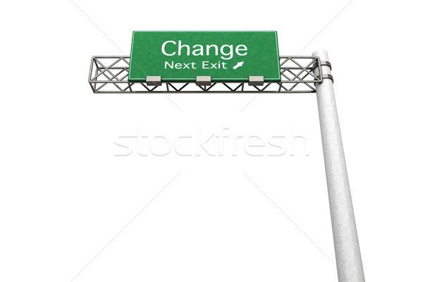 幹線道路の標識 変更 3D レンダリング 実例 次 ストックフォト © Spectral