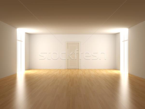 Deur lege kamer 3D gerenderd interieur huis Stockfoto © Spectral