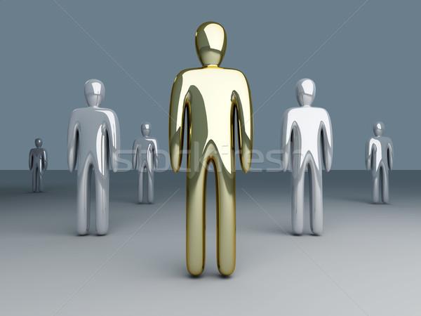 Chef d'équipe 3D rendu illustration leader équipe Photo stock © Spectral