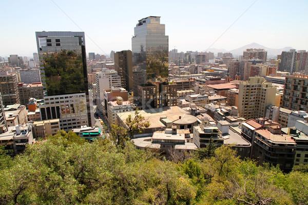 Santiago Chili hemel stad Stockfoto © Spectral