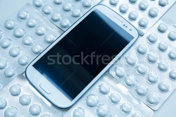Médico moderno celular pílulas negócio Foto stock © Spectral
