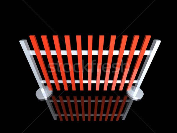 забор 3d иллюстрации строительство цифровой линия границе Сток-фото © Spectral
