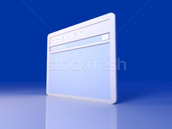 Browser venster 3d illustration symbolisch technologie netwerk Stockfoto © Spectral