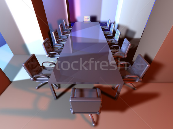 Metal Meeting Room Stock photo © Spectral