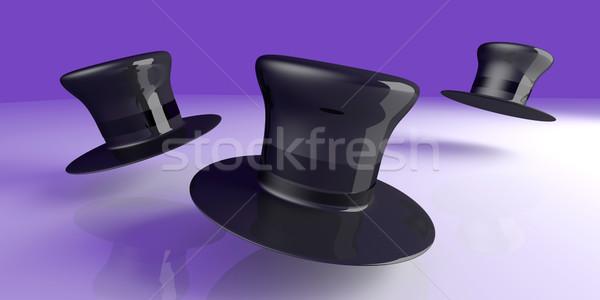 Cilinder hoeden klassiek hoed 3D gerenderd Stockfoto © Spectral