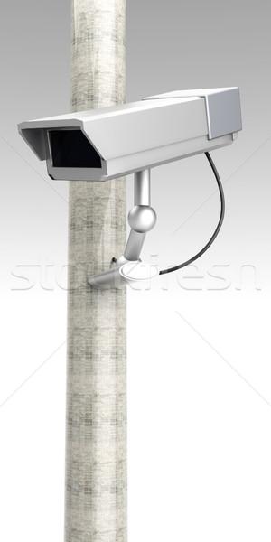 Cctv inwigilacja 3D świadczonych ilustracja telewizji Zdjęcia stock © Spectral