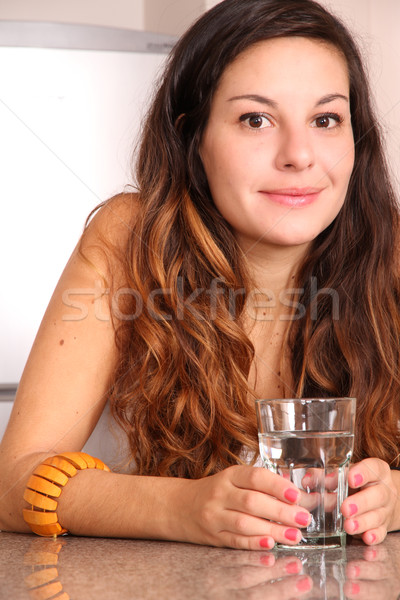 Young woman drinking water Stock photo © Spectral
