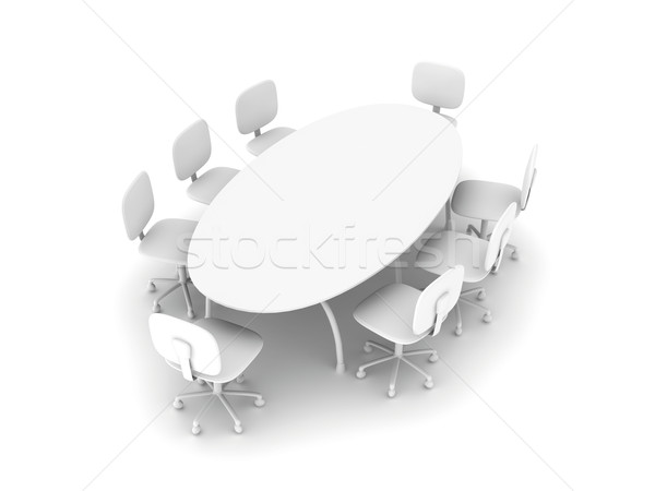 общий конференции таблице 3D оказанный иллюстрация Сток-фото © Spectral