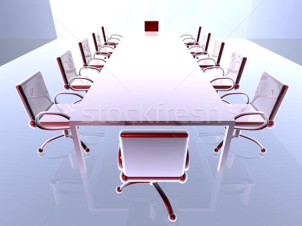 Metal 3D prestados sala de reuniões negócio Foto stock © Spectral