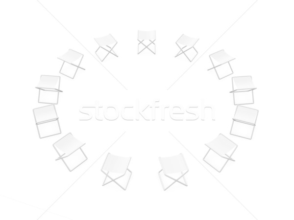 Circle of Folding Chairs Stock photo © Spectral