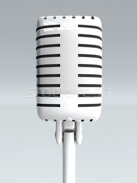 Mikrofon 3D renderelt illusztráció zene rádió Stock fotó © Spectral