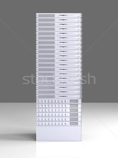 ストックフォト: サーバー · 塔 · 3D · レンダリング · 実例 · インターネット