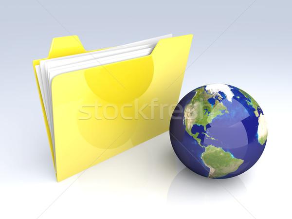 Global Folder - America Stock photo © Spectral