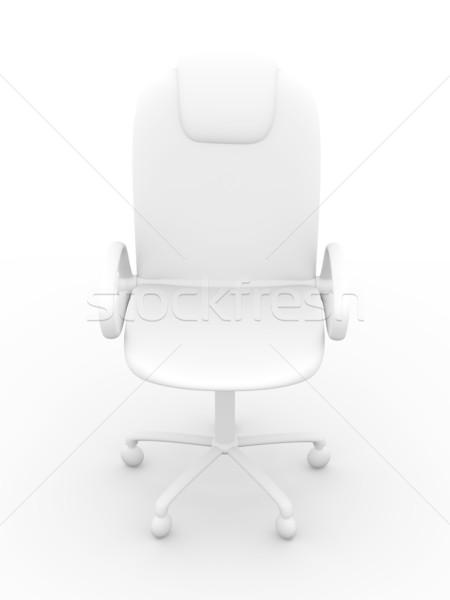 Bureaustoel 3D gerenderd bliksem stoel digitale Stockfoto © Spectral