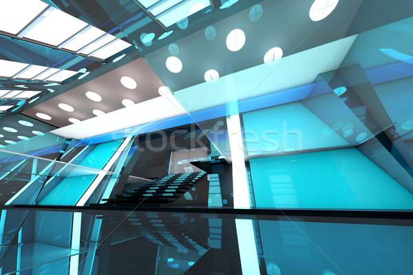 Futuristic entrance hall Stock photo © Spectral