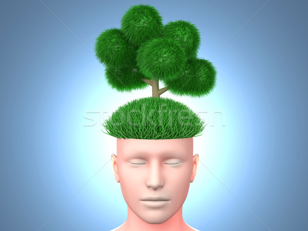 Düşünmek yeşil 3D render örnek ağaç Stok fotoğraf © Spectral