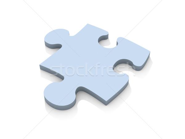 パズル 作品 3次元の図 孤立した 白 おもちゃ ストックフォト © Spectral