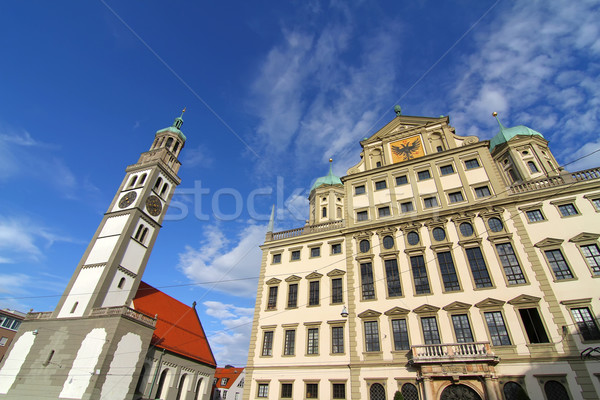 Townhall of Augsburg with St. Peter Stock photo © Spectral