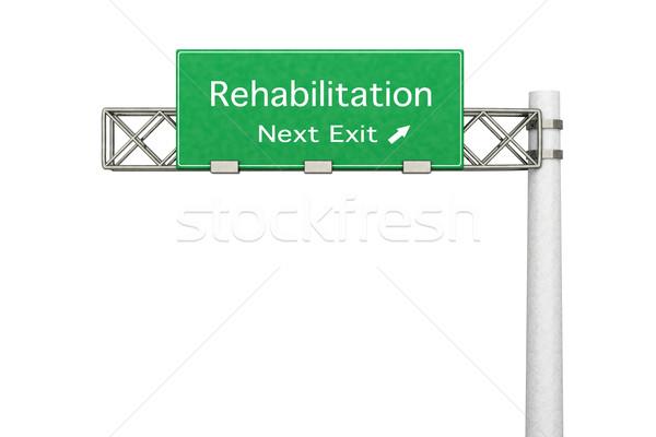 Autópálya tábla rehabilitáció 3D renderelt illusztráció következő Stock fotó © Spectral