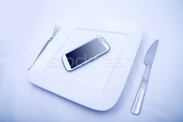 Smartphone Food Stock photo © Spectral