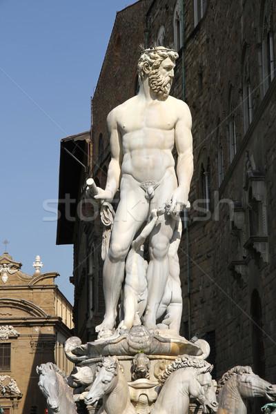 Estátua florence fonte Itália europa água Foto stock © Spectral