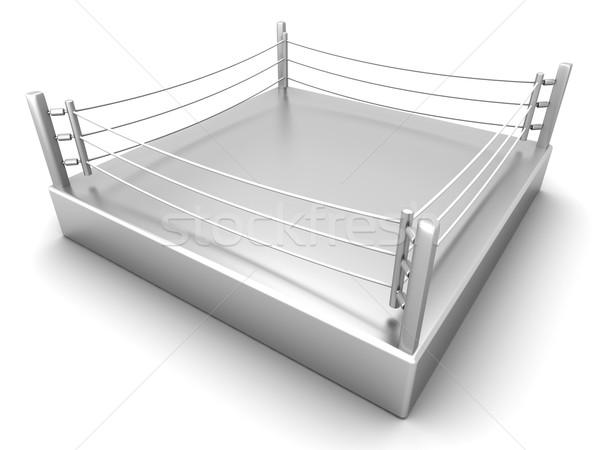 Boxing anello illustrazione 3d sport lotta professionali Foto d'archivio © Spectral