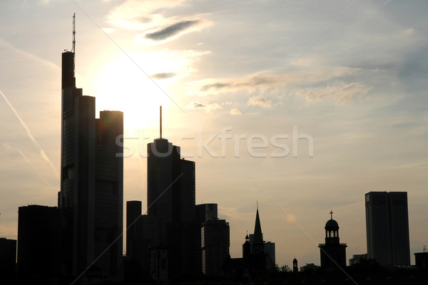 Skyline of Frankfurt am Main Stock photo © Spectral
