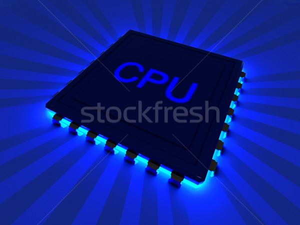 процессор 3D оказанный иллюстрация компонент Сток-фото © Spectral