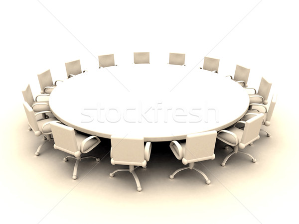 Round Table  Stock photo © Spectral