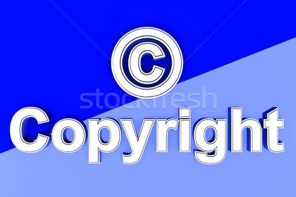 авторское право символ 3D оказанный иллюстрация данные Сток-фото © Spectral