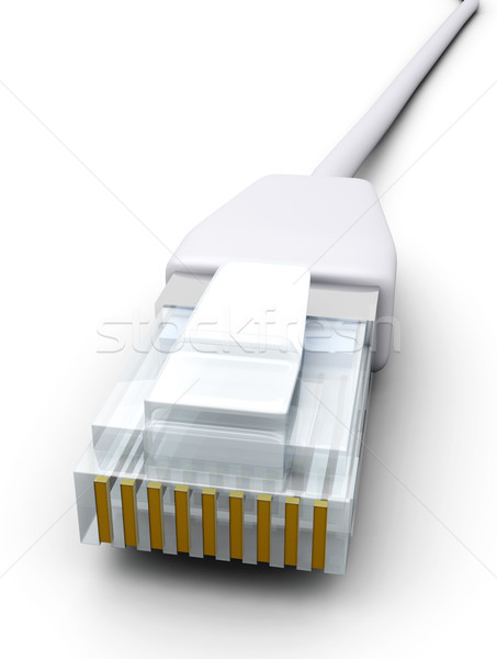 Lan kabel 3D gerenderd illustratie geïsoleerd Stockfoto © Spectral
