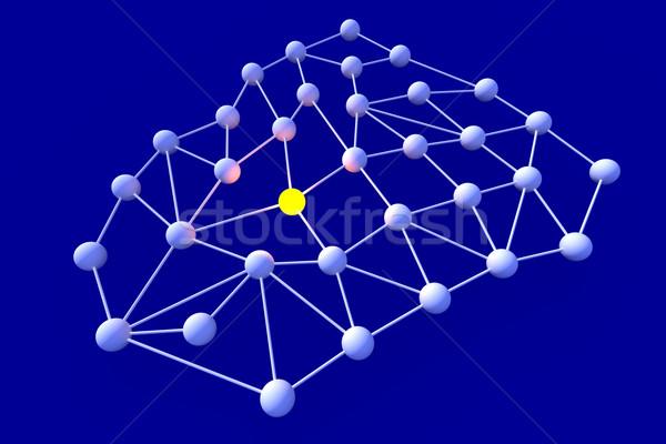 Netwerk knooppunt 3D gerenderd illustratie technologie Stockfoto © Spectral