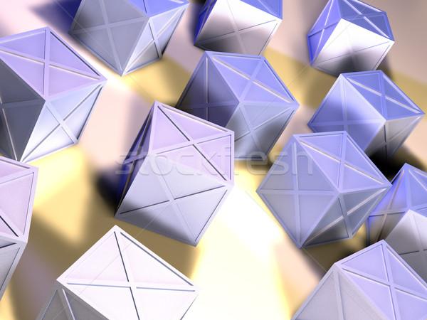 железной коробки 3d иллюстрации грубо материальных металл Сток-фото © Spectral