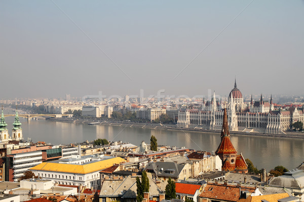 Smog over the Hungarian Parliament		 Stock photo © Spectral
