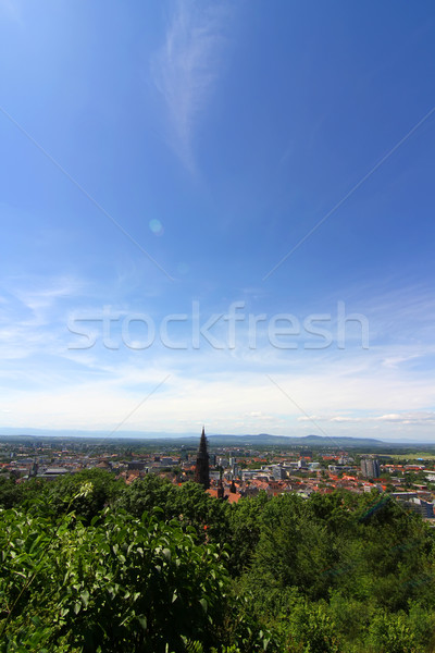 View over Freiburg im Breisgau Stock photo © Spectral