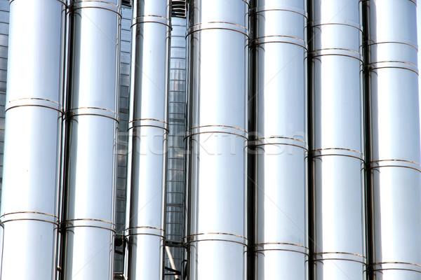 Metal borular endüstriyel havalandırma Bina arka plan Stok fotoğraf © Spectral