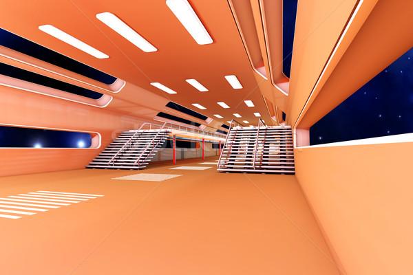 пространстве станция интерьер 3D архитектура здании Сток-фото © Spectral