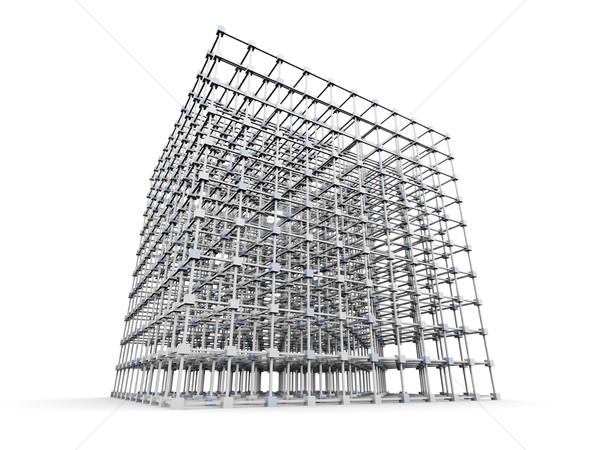 グリッド 3D レンダリング 実例 孤立した ストックフォト © Spectral