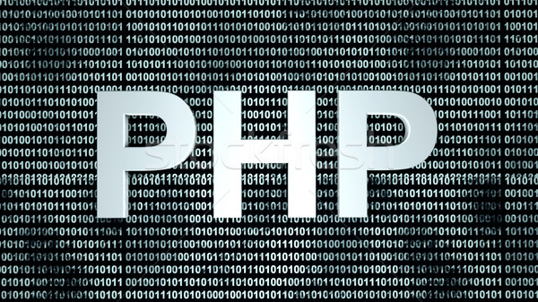 PHP binary code background Stock photo © Spectral