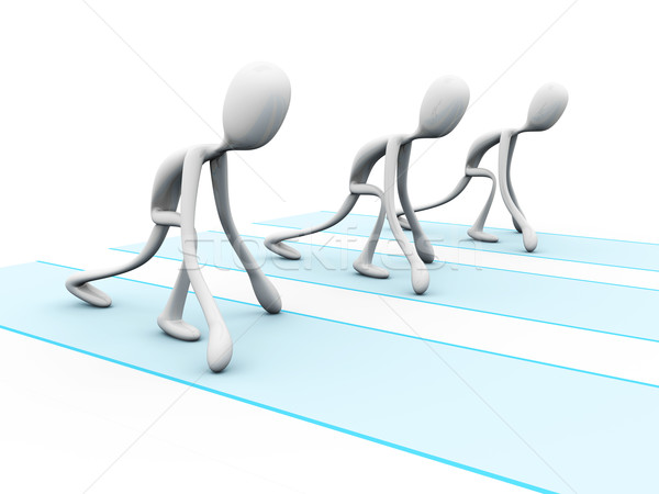 Runners in starting position Stock photo © Spectral