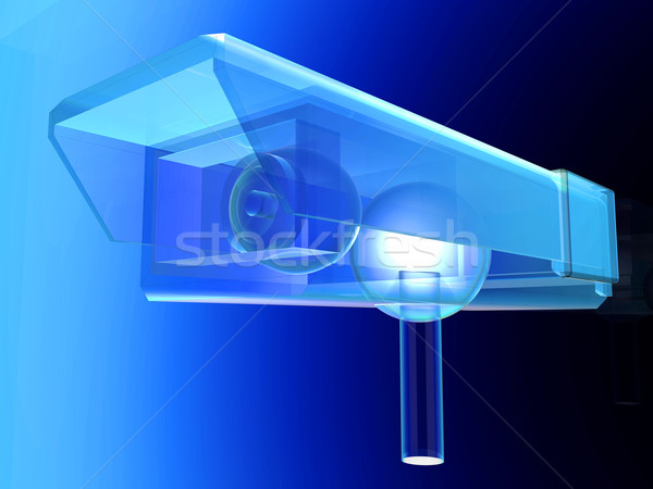 Transparent CCTV Surveillance cam Stock photo © Spectral