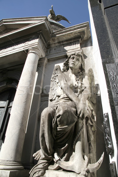 Statue in the Cemetery of Recoleta  Stock photo © Spectral